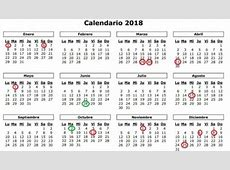 14 festivos en 2018