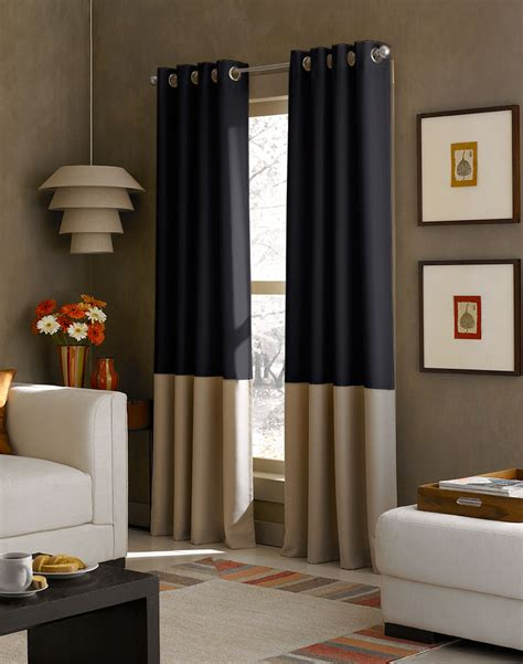 Modern Curtains For Grey Living Room by Kendall Color Block Grommet Curtain Panel Curtainworks Com