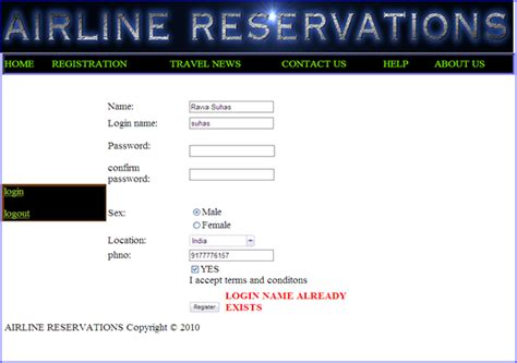 air r駸ervation si鑒e airline reservation system project in asp