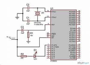 Led Interfacing With 8051 Microcontroller Circuit Diagram