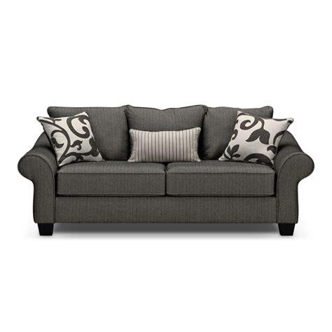 Gray Loveseat by Colette Memory Foam Sleeper Sofa Gray Value City