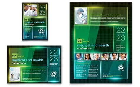 medical conference flyer ad template word publisher