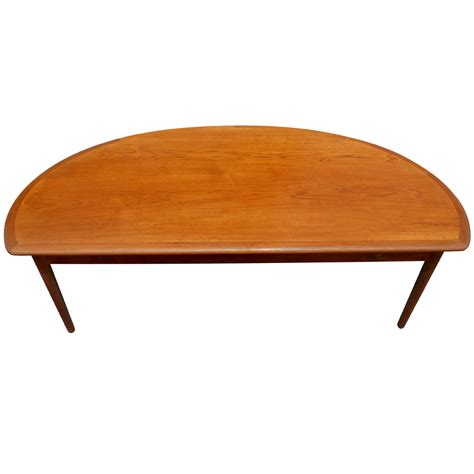 """The half moon coffee table set by lavish home is a beautiful and practical addition to your home décor. 60"""" Mid Century Modern Vintage Half Moon Coffee Table 