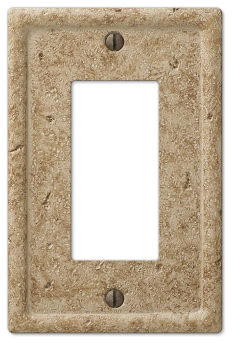 faux stone resin  rocker wall plate traditional