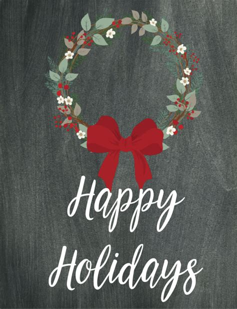 printable christmas chalkboard wall art  designs