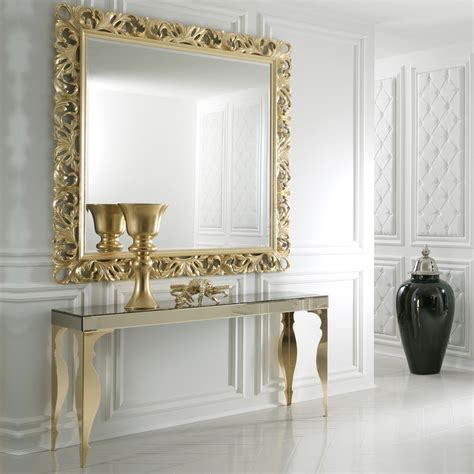 floor mirror console table contemporary bronze mirrored venetian console table