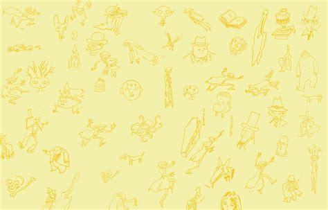 Vintage Floral Wallpaper Desktop Yellow Background Image Wallpapersafari