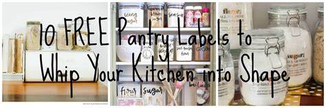 printable pantry labels  whip  kitchen