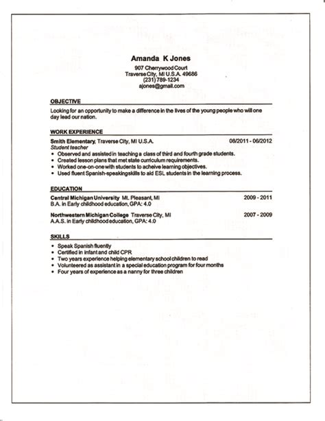 Information Needed For A Resume by What To Include In A Resume Best Template Collection