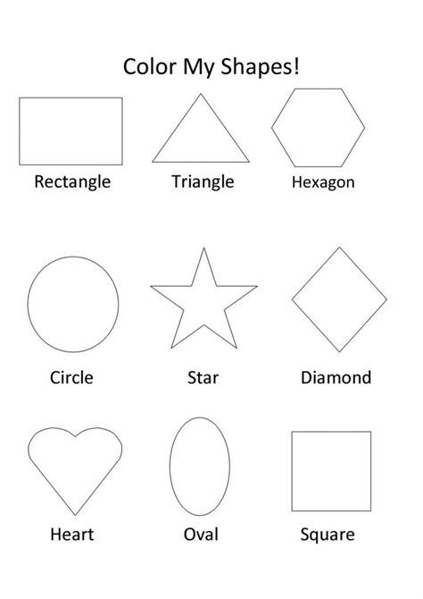 printable shapes coloring pages  kids shape