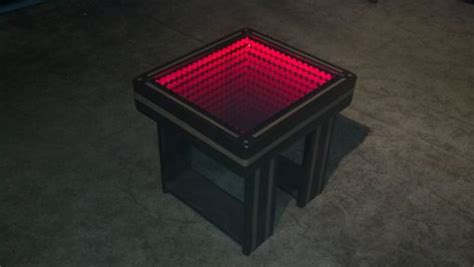 Buy A Custom Made Infinity Mirror Coffee Table With Led Living Rooms With Dark Brown Couches Green Color Room Stoves Asian Themed Idea For Decor Santa Rosa Best Wall Paint Colors Ikea