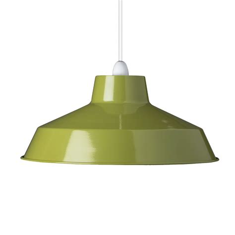 small dual fitting pluto metal lighting pendant shades green