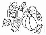 Coloring Autumn Pages Printable Seasons Pumpkin Fall 4kids sketch template
