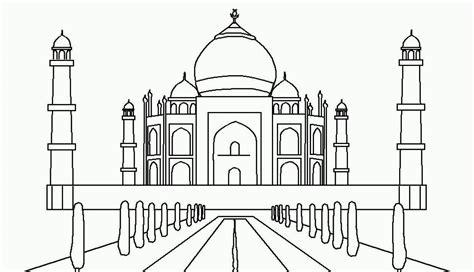 mewarnai gambar masjid taj mahal warna gambar taj mahal