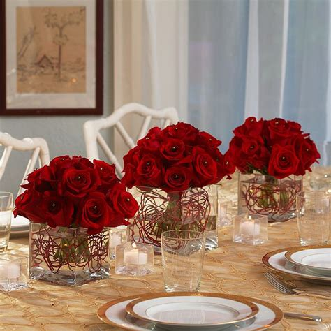 pictures of red roses centerpieces piece red rose