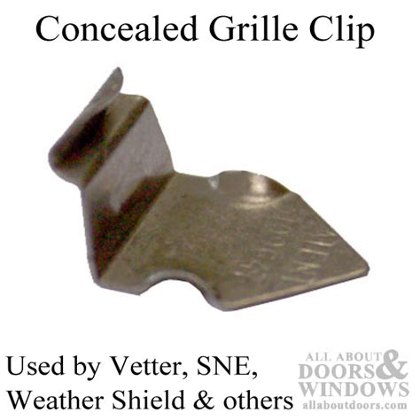 metal concealed grille clip stamped steel window grid