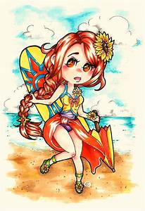 Pool Party Leona Chibi by Crimson-Cyra on DeviantArt