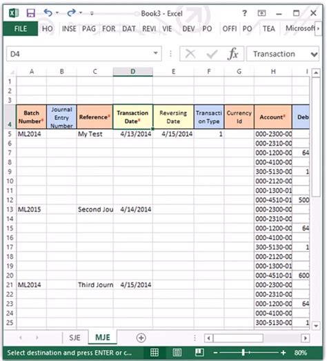 journal entry template excel how to copy and paste journal entries from excel to microsoft dynamics gp erp