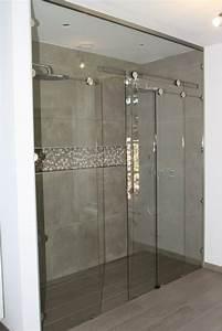 produits porte et paroi de douche With porte coulissante douche sur mesure
