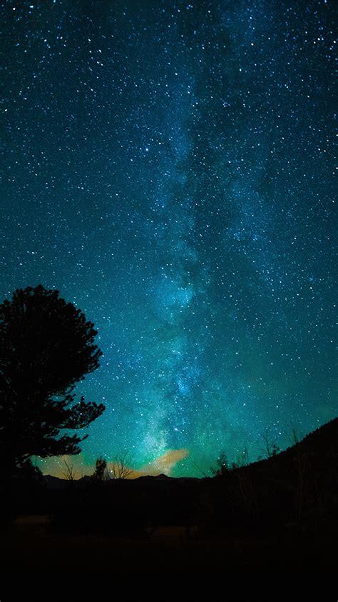 aurora night sky star space nature dark wallpaper
