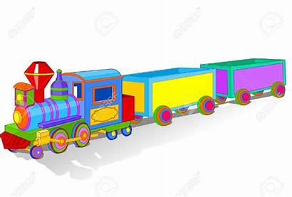 Train Toy Illustration Clipart Vector Colorful Trains