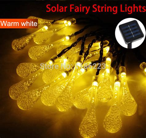 warm white solar string lights for outdoor garden