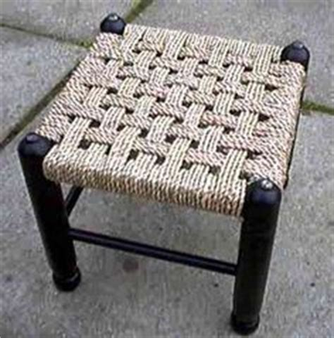 how to reweave a chair seat as a kid i made a stool