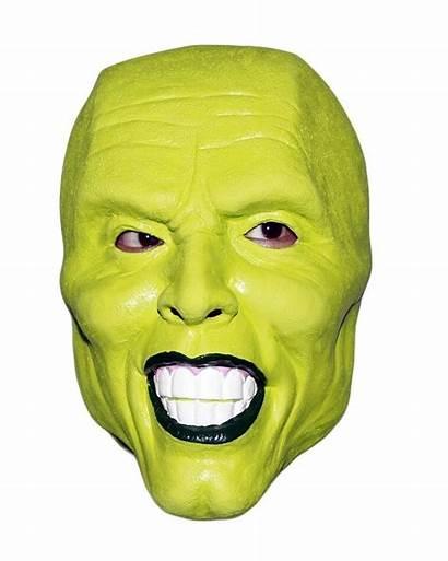 Mask Carrey Jim Costume Halloween Latex Fancy