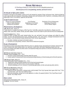 travel consultant resume objective travel resume