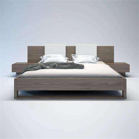Bed With White Nightstands by Bed Nightstands White Headrest Pillows
