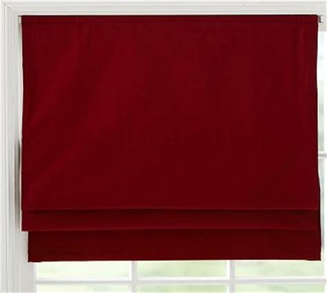 "Cameron Cordless Roman Shade, 36 X 64"", Cardinal Red"