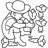 Coloring Farmer Farm Clipart Vegetables Colouring Ninja Clip Weapons Printable Boy Learning Fun Sheet Carrots Carrot Upin Ipin Arsenal Plant sketch template