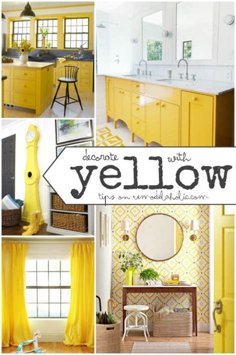 Remodelaholic    Mustard Yellow Work