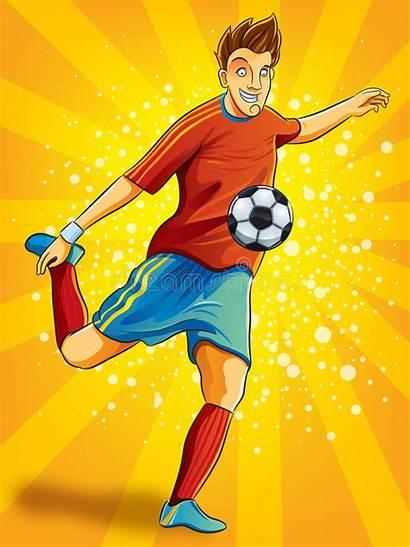 Soccer Shooting Ball Player Goal Vector