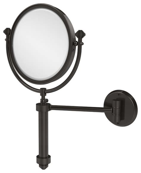 8 quot wall mirror 5x mag rubbed bronze contemporary