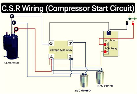 Air Conditioner Wiring Diagram Compressor Start Full