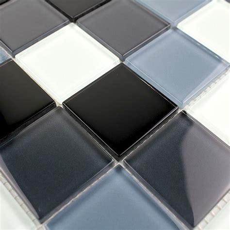 kitchen glass backsplash mosaique verre cr 233 dence cuisine verre mosa 239 que noir 1763