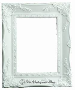 Ornate Shabby Vintage Swept Baroque Matt White Picture ...