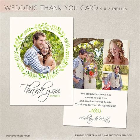 wedding thank you card photoshop template wedding thank you card template for photographers by