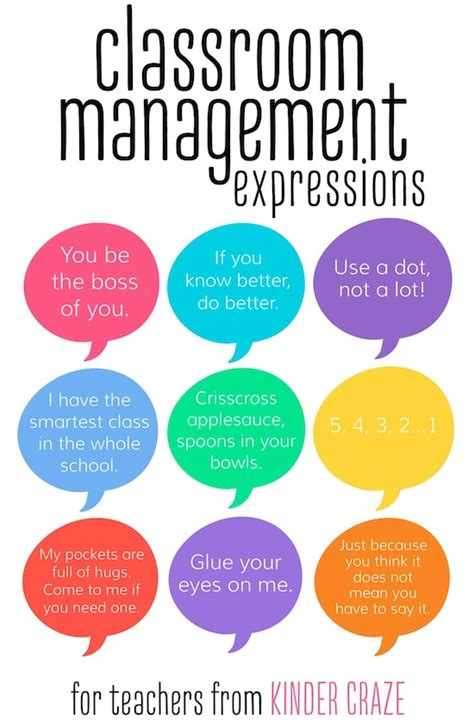 classroom management expressions kindercatchphrase
