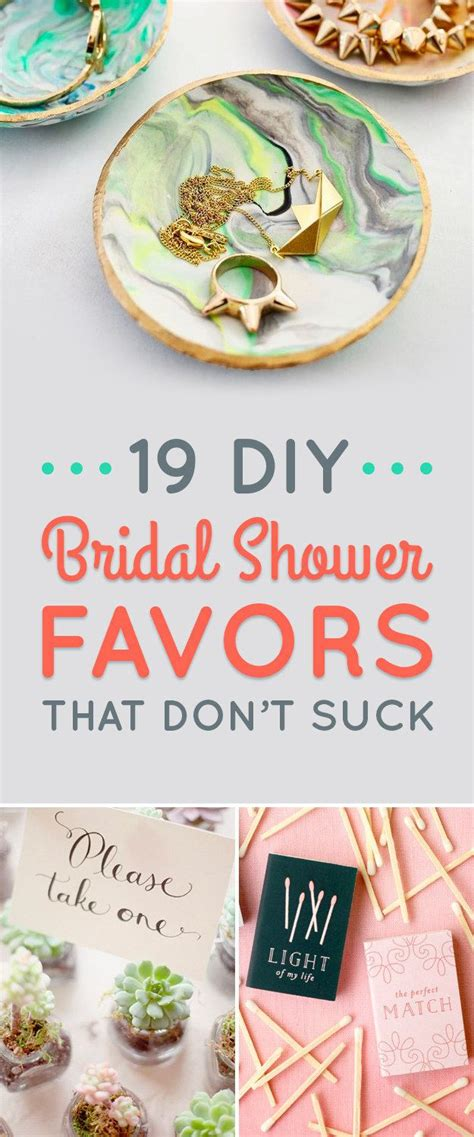 19 diy wedding shower favors that are stupid easy