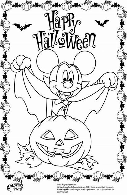 Coloring Mickey Pages Halloween Mouse Minnie Vampire
