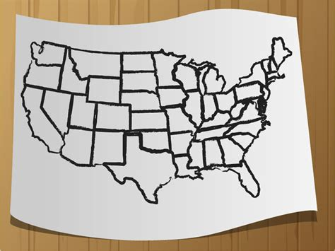 draw  map   usa  steps  pictures