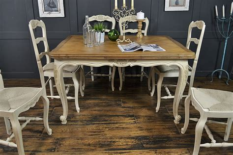 shabby chic dining sets 6 seater cream extending shabby chic french dining set by the treasure trove shabby chic