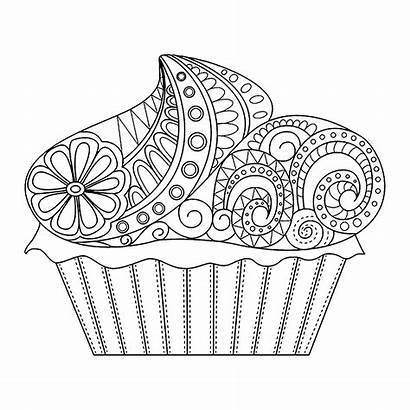 Cupcake Cakes Cupcakes Cup Coloring Colorear Fur