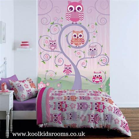 owls wallpaper mural  catherine lansfield  ordinates
