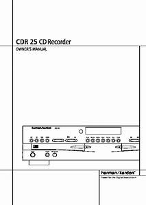 Harman Kardon Cdr 25  Serv Man5  User Guide    Operation