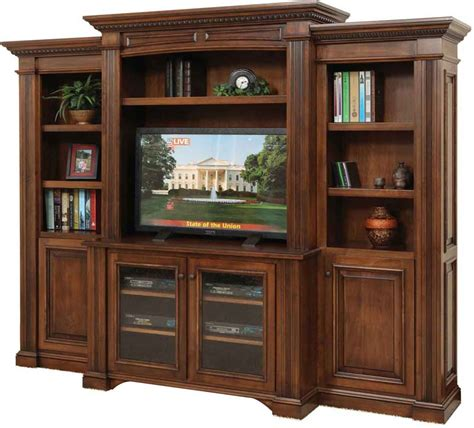 Endearing Lincoln Entertainment Center Of With Bookcase
