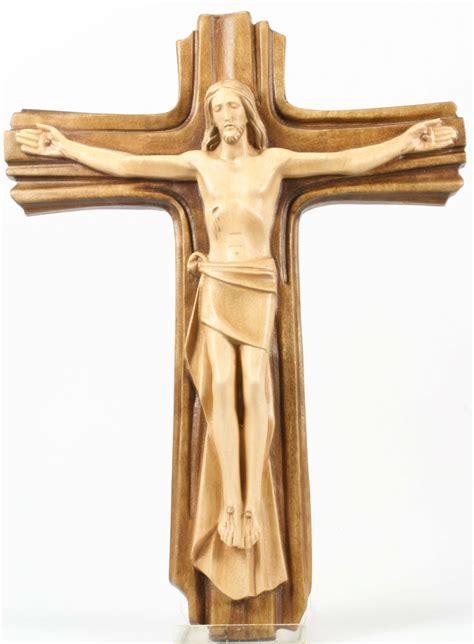 holzkreuz jesus  kreuz  cm zweifarb gebeizt