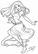 Coloring Pages Adult Dancing Deviantart Anime Drawings Angel Sabinerich Lineart Colouring Flowing Line Drawing Sabine Books Colorful Female Dibujos Sheets sketch template
